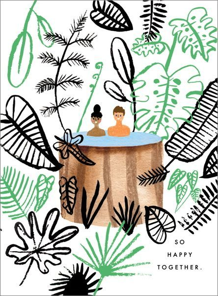 Carolyn Suzuki - Hot Tub In Paradise Greeting Card