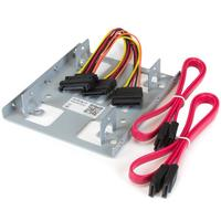 """StarTech: Dual 2.5"""" to 3.5"""" HDD Bracket for SATA Hard Drives - 2 Drive 2.5"""" to 3.5"""" Bracket for Mounting Bay"""
