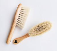 Lullalove: Hairbrush Set with Goat's Bristle and Washcloth - Adventure Pattern image