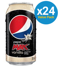 Pepsi Max Vanilla Cans 355ml (24 Pack) image