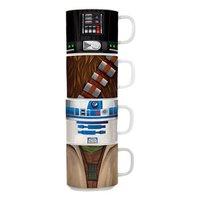 Star Wars Stacking Ceramic Mugs (4-Pack)