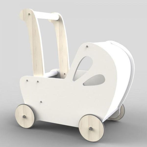Moover Baby Doll's Pram - White image