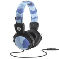 Moki Camo In-line Mic Blue Headphones