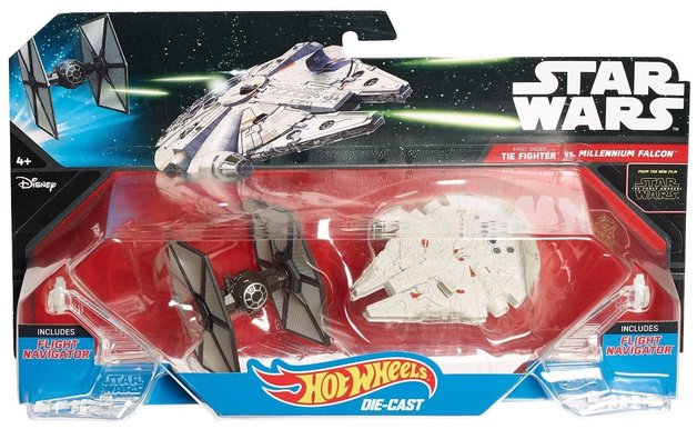 Hot Wheels: Star Wars Starships - First Order TIE Fighter vs. Millennium Falcon