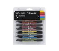 Winsor & Newton Promarker 6 - Vibrant Tones Set