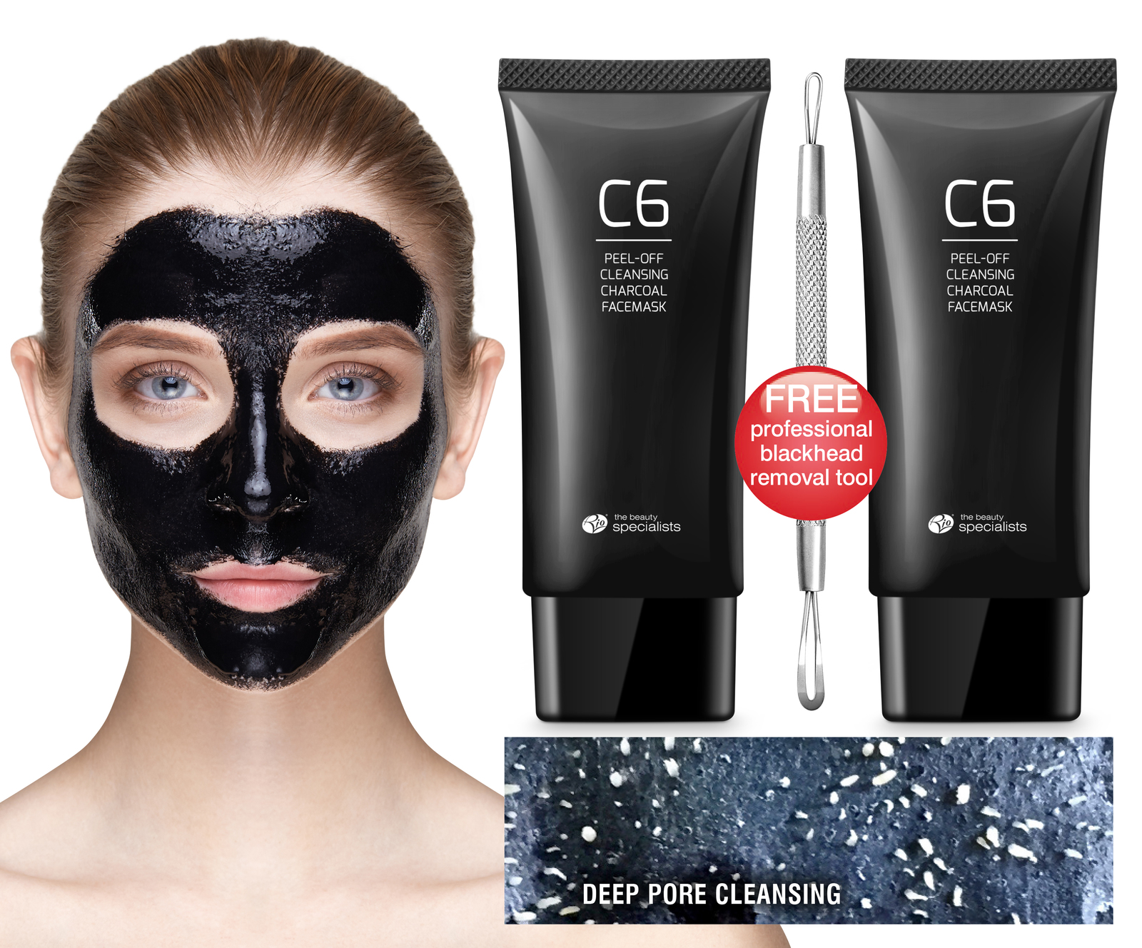 Blackhead Removal And Pore Cleaning Peel Off Charcoal Face Mask image