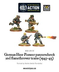 German Heer Pioneer Panzerschrek & Flame Thrower Teams