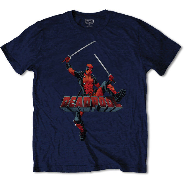 Deadpool Logo Jump - Navy (XX Large)