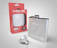 Rolling Stones Logo Hip Flask