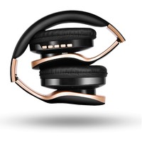 Ape Basics: Foldable Noise Isolating Over-Ear Bluetooth Headphones With Mic - Black