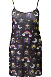 Killstar: Not Cute Mesh Dress [PLUS] - 4XL / Black