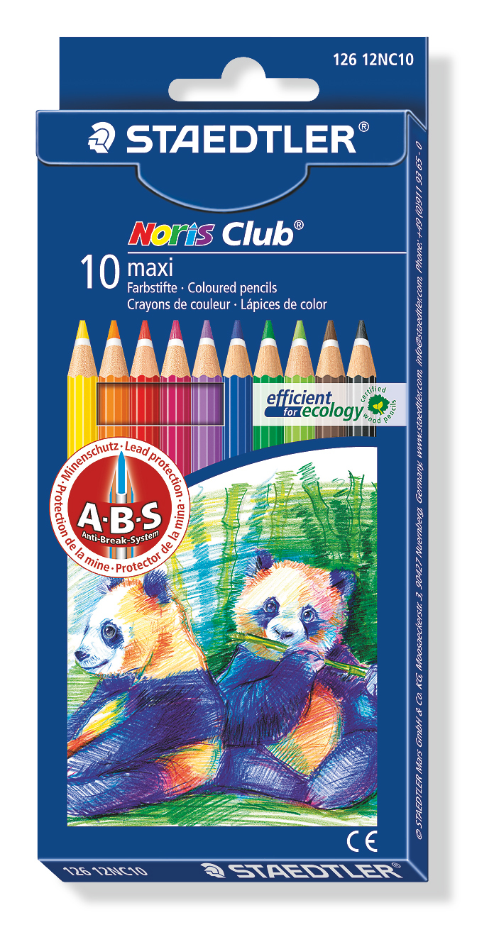 Staedtler - Noris Club MAXI Learner Coloured Pencils - Pack of 10 image