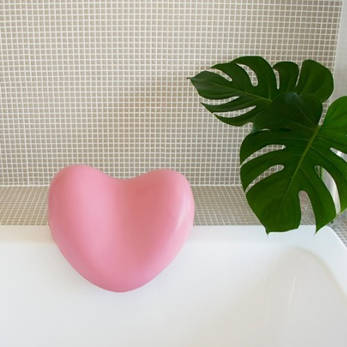 Bath Pillow Heart - Pink