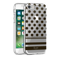 iLuv: Clear Dot Case - For iPhone 7/8 Plus (Black)