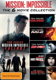 Mission Impossible 1-6 Movie Collection on DVD