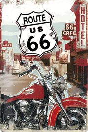 Nostalgic Art: Tin Sign - Route 66