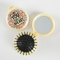 Natural Life: Compact Brush Mirror - You Make My Heart Happy
