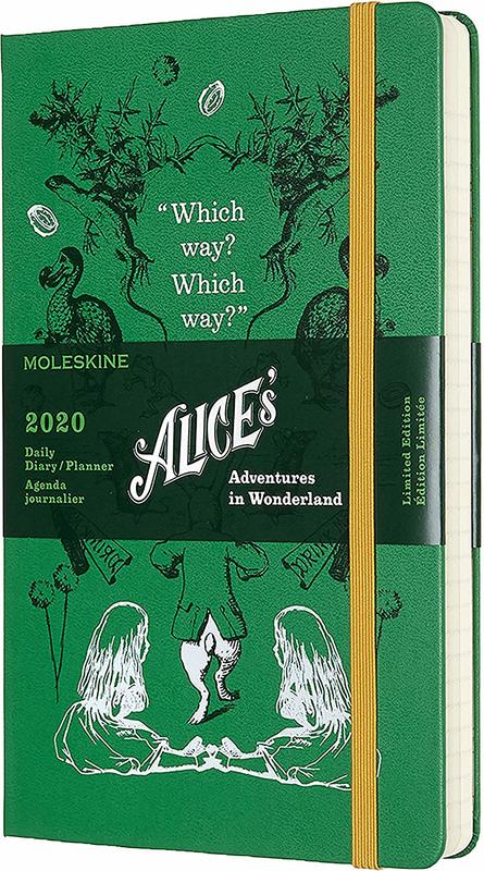 Moleskine: 2020 Diary Large Hard Cover 12 Month Daily - Alice In Wonderland