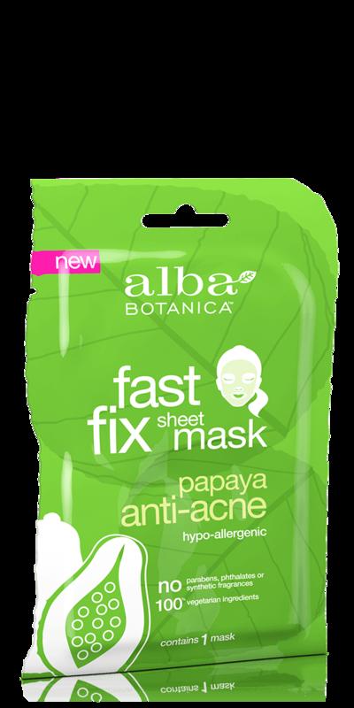 Alba Botanica: Fast Fix Papaya Anti-Acne Sheet Mask (Single Mask)