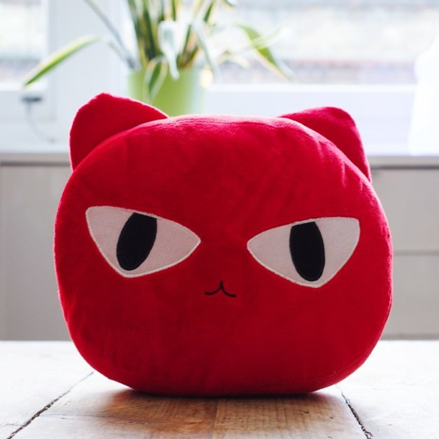 Cat Nap Cushion - Red