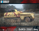 Rubicon 1/56 SdKfz 250/1 Neu Kit