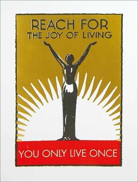 Archivist: YOLO Foil Greeting Card