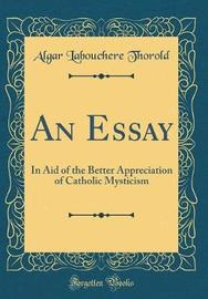 An Essay by Algar Labouchere Thorold image