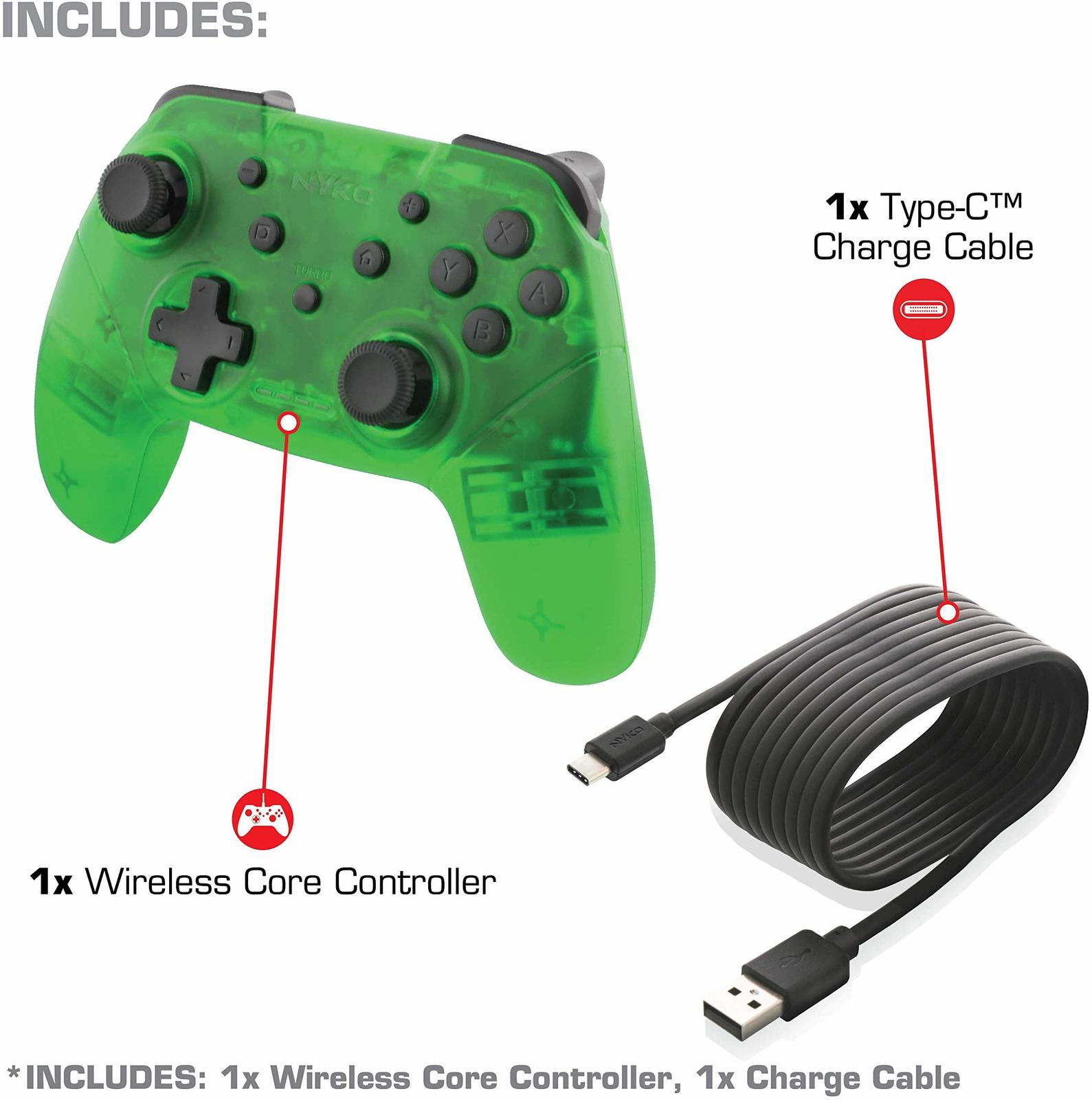Nyko Switch Wireless Core Controller (Green) for Switch image