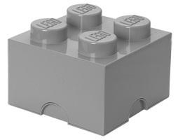 Lego: Storage Designer 4 Brick - Stone Grey
