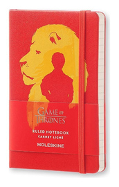 Moleskine Pocket Hard Cover Limited Edition Game of Thrones Notebook - Red
