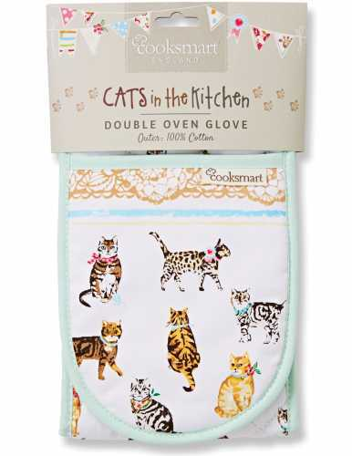 Cats On Parade Double Oven Gloves
