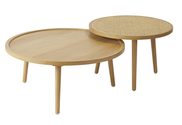 Amalfi: Santali Tables Set/2 (KD) [60x60x40cm/80x80x35cm]