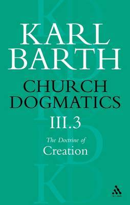 Church Dogmatics Classic Nip III.3 by Barth