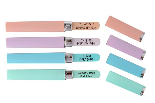 Buy Cheeky Bubbles Glass Nail File and Case at Mighty Ape NZ