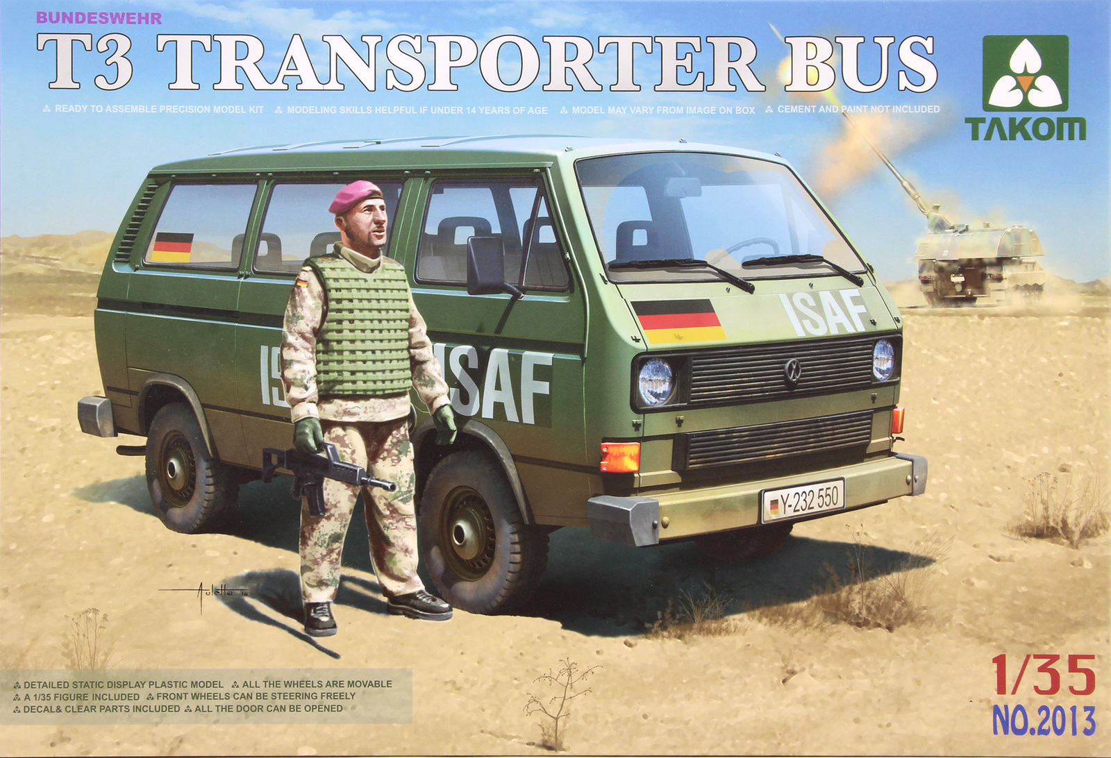 Takom: 1/35 T3 Transporter Bus (with Figure) Model Kit image