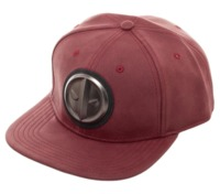 Deadpool: Metal Logo - Distressed Snapback Cap