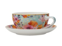 Maxwell & Williams - Cashmere Bloems Coupe Cup & Saucer Blue/White (250ml)