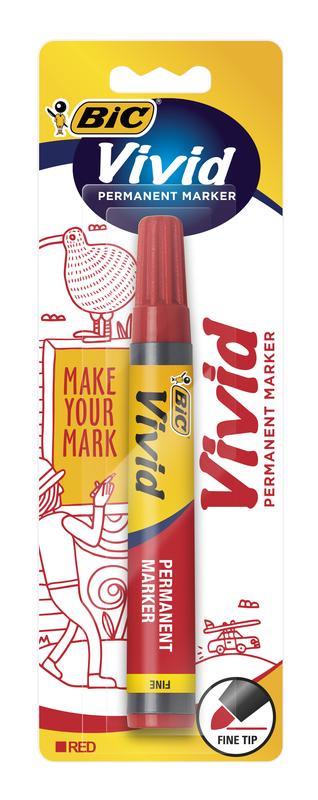 Vivid: Permanent Marker - Fine Tip Red (Single)