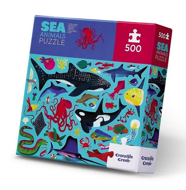 Crocodile Creek: 500-Piece Puzzle - Sea Animals