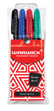 Warwick Permanent Bullet Tip Markers Assorted Pkt4