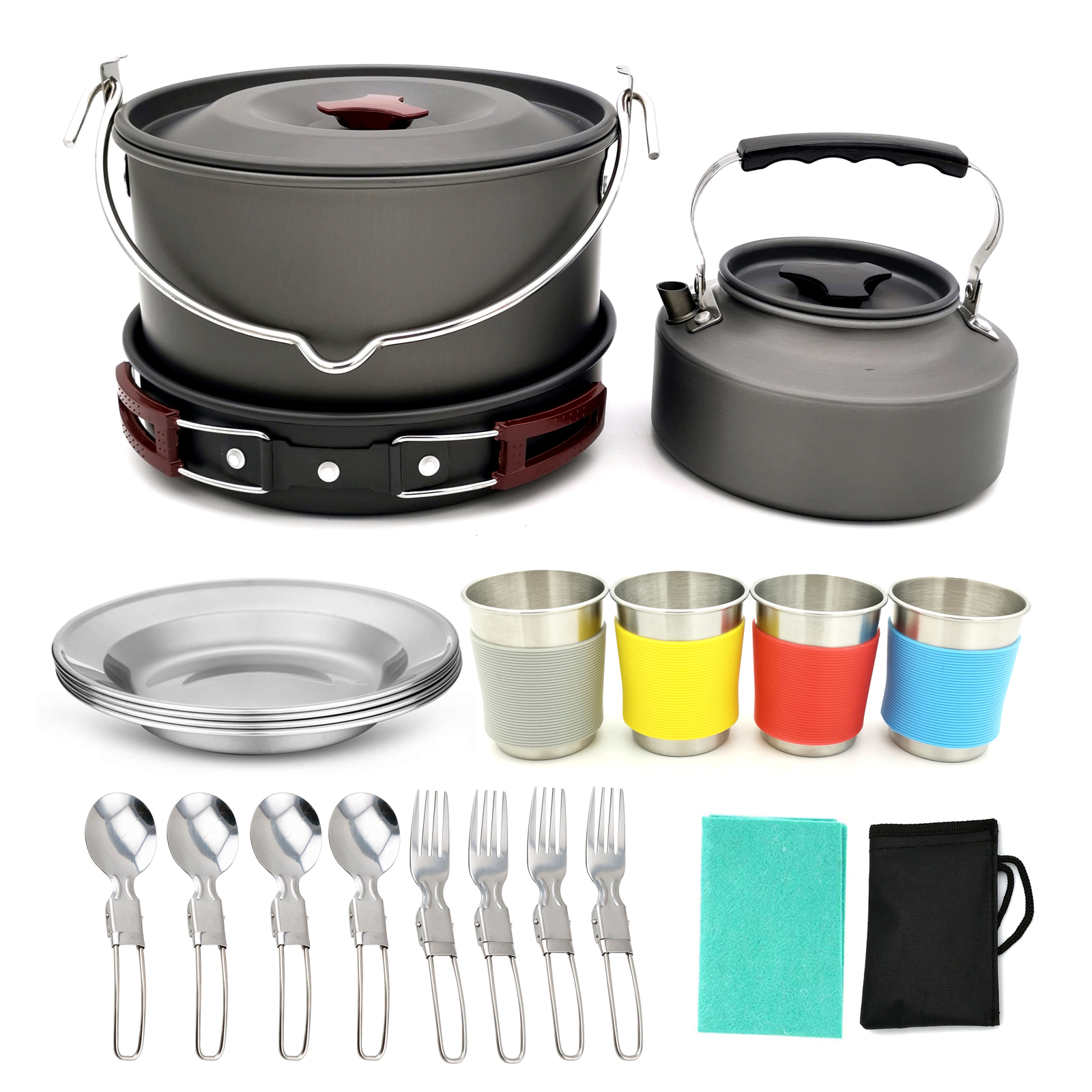 Outdoor Camping Kitchen Cook Set - 19 Piece image