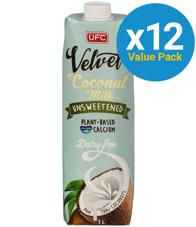 UFC Velvet Coconut Milk Unsweetened 1L 12pk