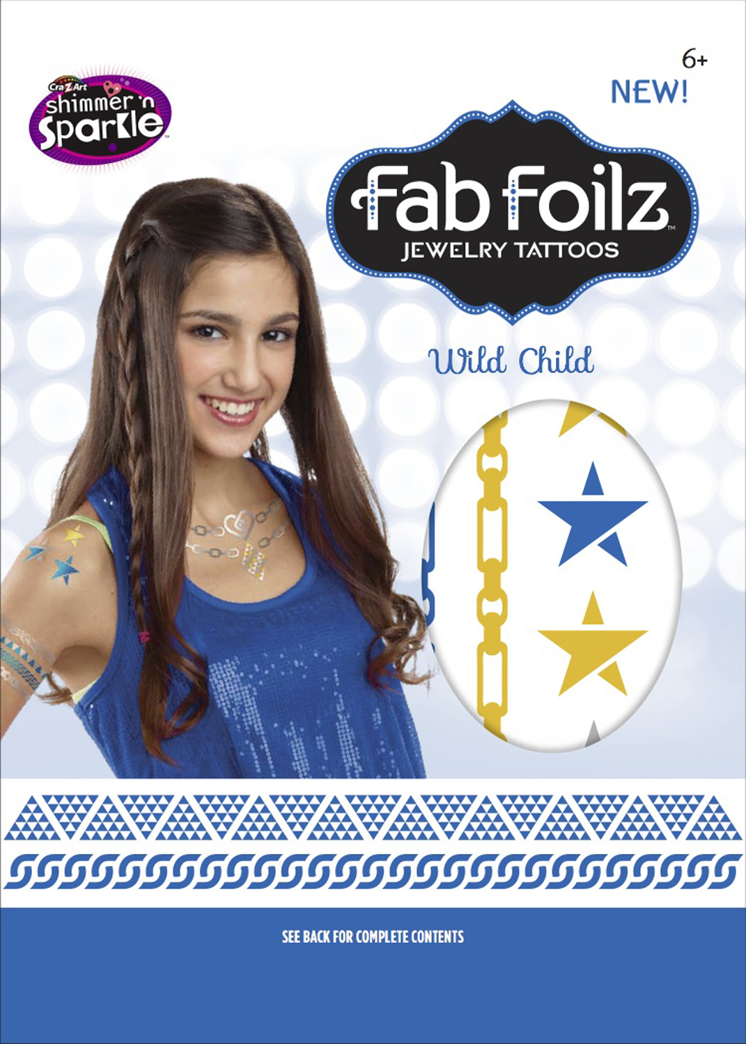 "Fab Foilz: Metallic Tattoos 4 X 8"" Envelope - Wild Child image"
