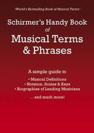 Schirmer's Handy Book of Musical Terms and Phrases by Schirmer image