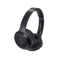 Audio-Technica: Wireless On-Ear Headphones with Built-in Mic & Controls - Black