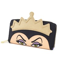 Loungefly Disney Evil Queen Face Zip Wallet