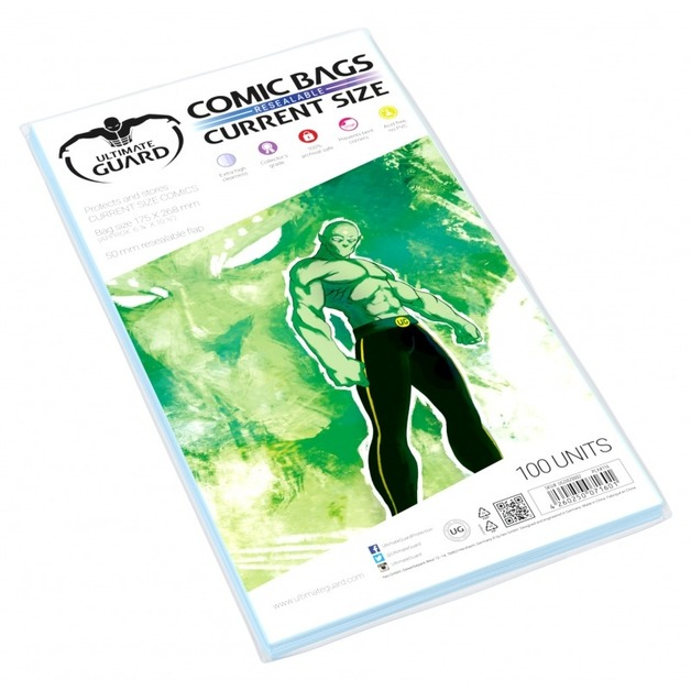 Ultimate Guard: Resealable Comic Bags - Current (100-Pack)