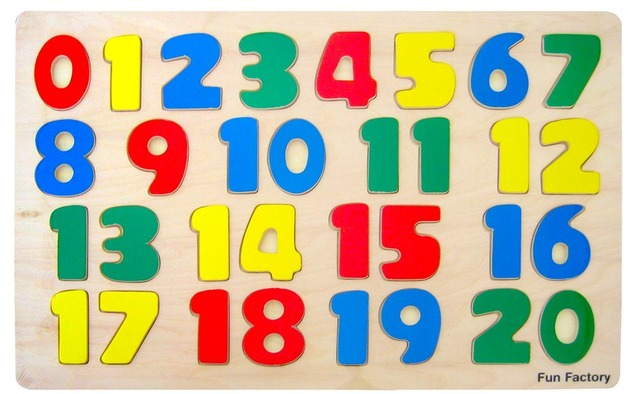 Fun Factory: Numbers Raised Puzzle