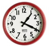 General Eclectic Retro School Clock - Red