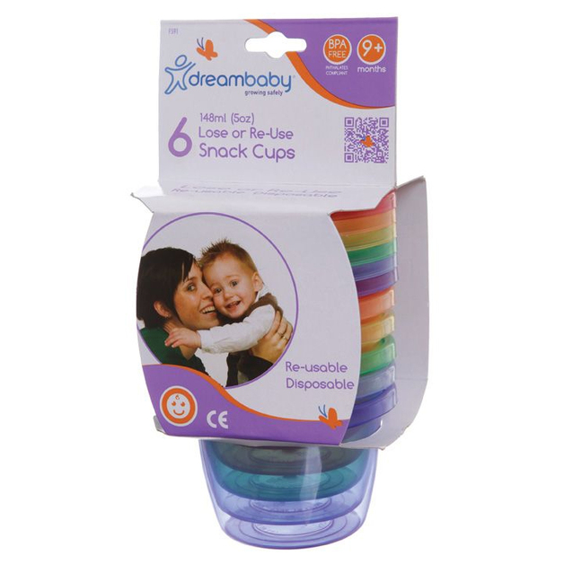 Dreambaby Disposable/Reusable Snack Cups (6pk)